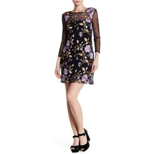 Jaelyn Mesh Floral Embroidery Dress